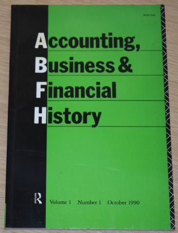 Accounting, Business and Financial History, Volume 1, Number 1, October 1990